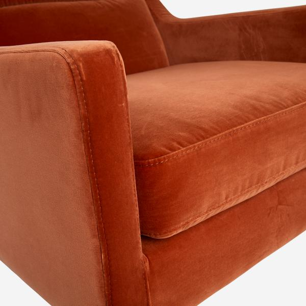Halston_Chair_Burnt_Orange_Stitching_and_Arm_detailCH0925_