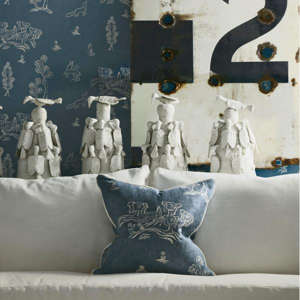 Wychwood_Happy_Blue_Wallpaper_with_Laurent_Sofa_and_scatter_cushion_in_Friendly_Folk_Happy_Blue_Fabric_