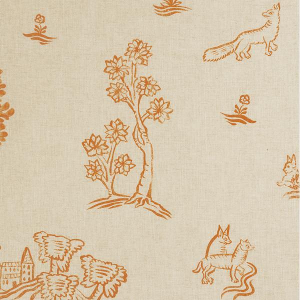 Friendly_Folk_Melon_Orange_Fabric_Detail_2