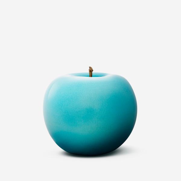 GlazedAppleCeramicTurquoise