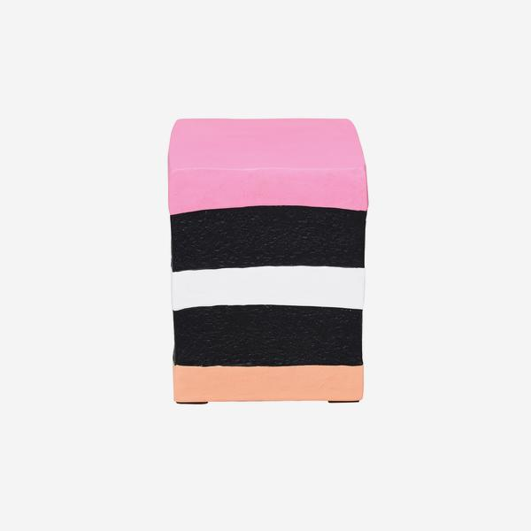 Pick_n_Mix_Square_Stool_Pink_Orange_Front