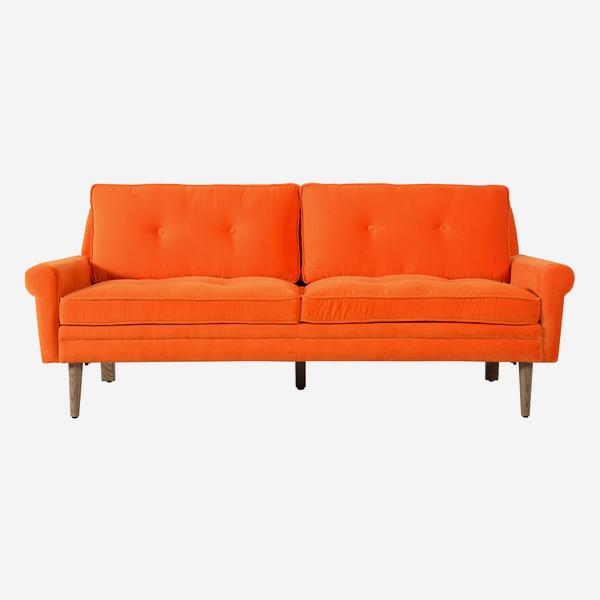 Firecracker_Sofa_Tangerine_Dream_Front