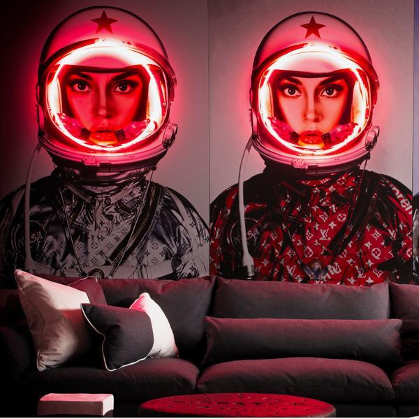SpaceGirlSilverLogosNeonLifestyle