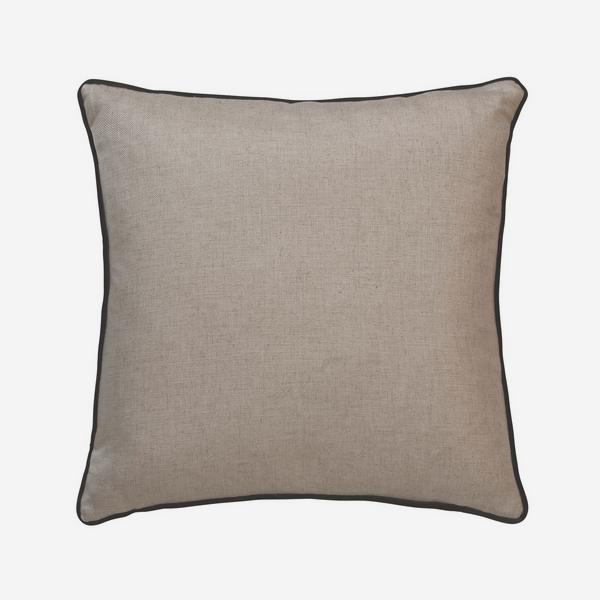 HedgerowPlainLinenPelhamChocolateCushion