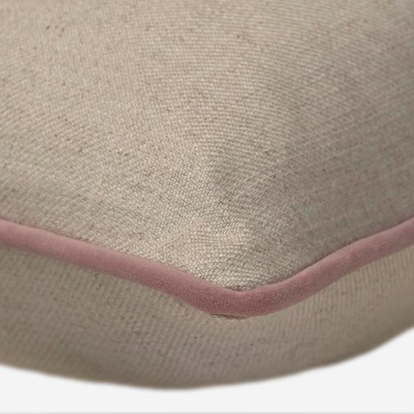 Hedgerow_Plain_Linen_Houdini_Old_Rose_Cushion_Detail