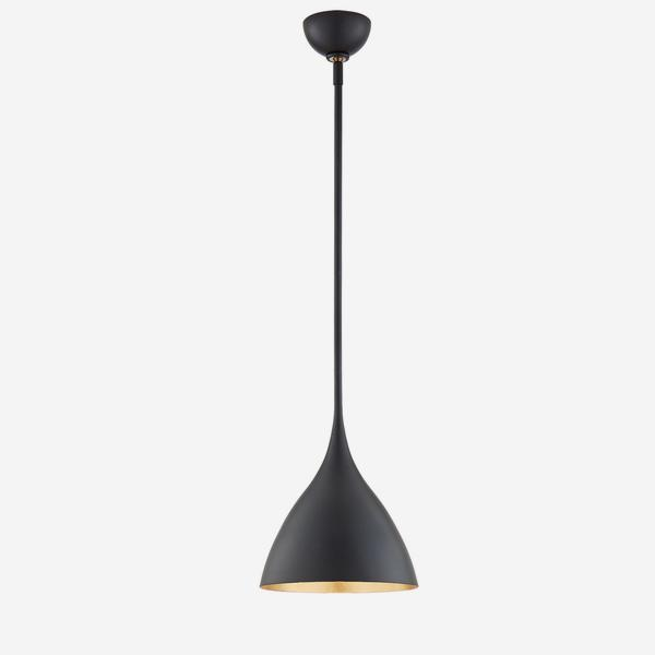 Agnes_Small_Pendant_Light_in_Matte_Black_with_Gild_Interior