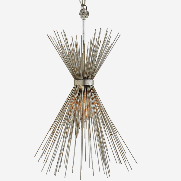 Strada_Small_Pendant_Light_in_Burnished_Silver_Leaf