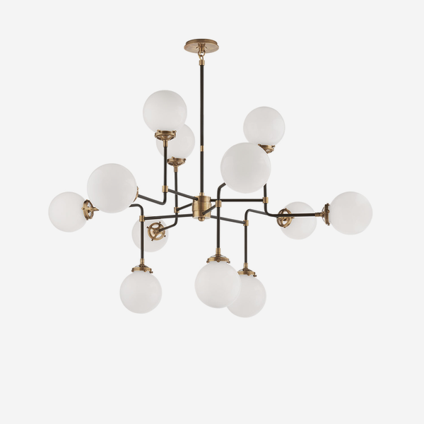 Bistro_Chandelier_in_Hand_Rubbed_Antique_Brass_with_White_Glass