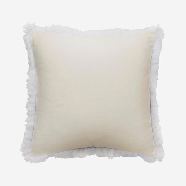 Piccolomini_White_Cushion_with_White_Feather_Trim