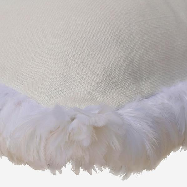 Piccolomini_White_Cushion_with_White_Feather_Trim_Detail