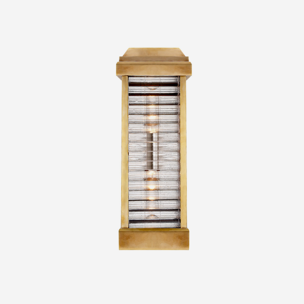Dunmore_Louver_Wall_Light_in_Antique_Burnished_Brass_with_Clear_Ribbed_Glass