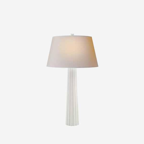 Fluted_Spire_Table_Lamp_in_Plaster_White