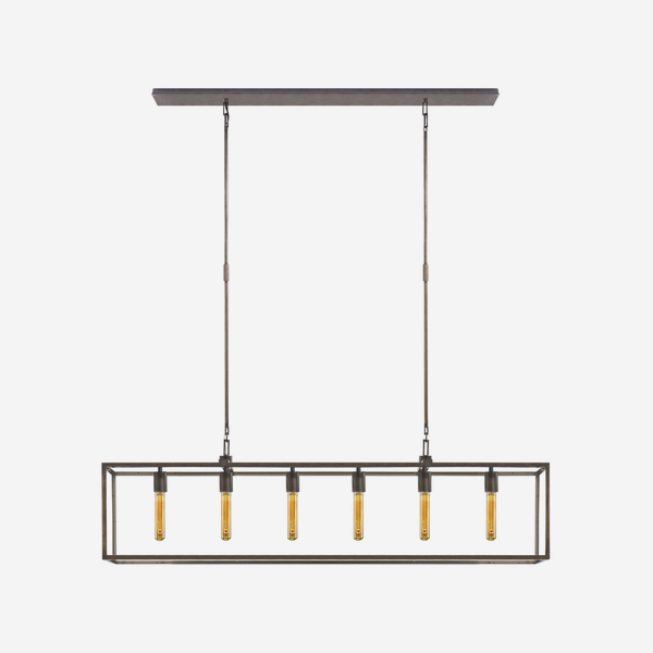 Belden_Linear_Pendant_in_Aged_Iron_with_Clear_Glass