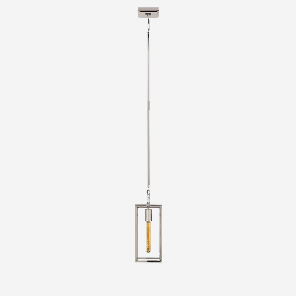 Belden_Single_Pendant_in_Polished_Nickel_with_Clear_Glass
