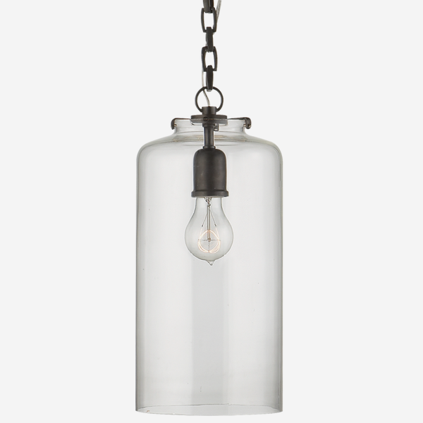 Katie_Pendant_Light_in_Bronze_with_Clear_Glass