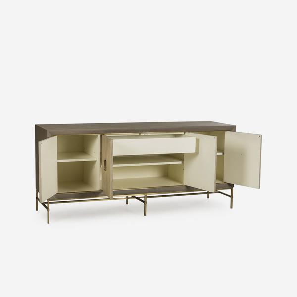 Edith_Sideboard_Ivory_Shagreen_Open_