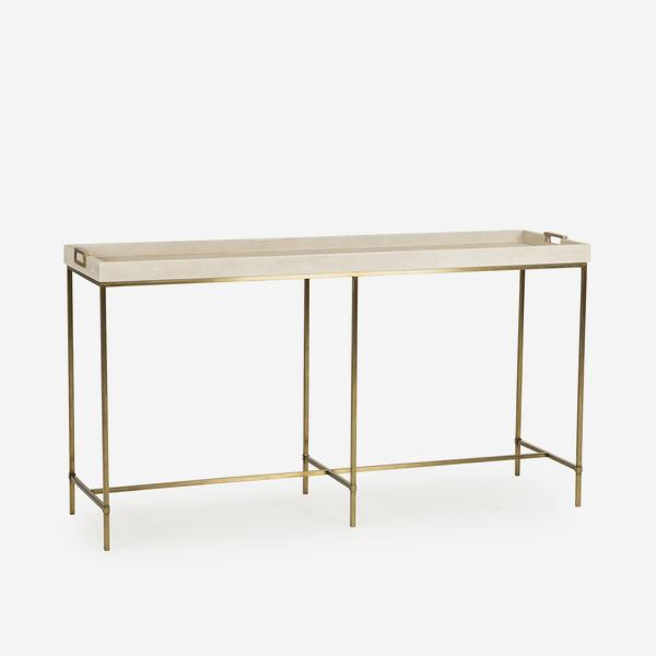 Edith_Console_Table_Ivory_Shagreen_Angle