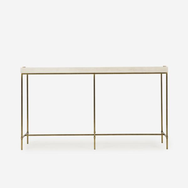 Edith_Console_Table_Ivory_Shagreen_Front