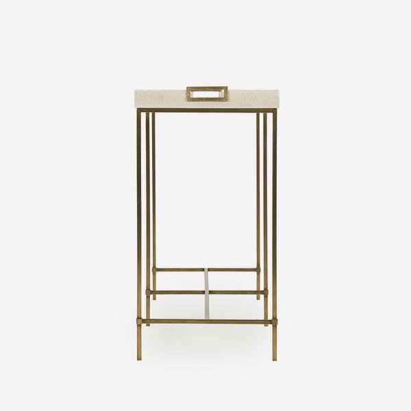 Edith_Console_Table_Ivory_Shagreen_Side