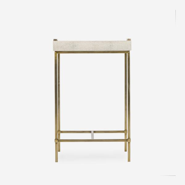 Edith_Small_Side_Table_Ivory_Shagreen_Front