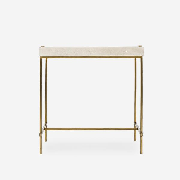 Edith_Large_Side_Table_Ivory_Shagreen_Front