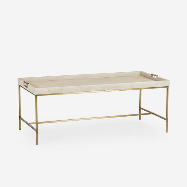 Edith_Coffee_Table_Ivory_Shagreen_Angle