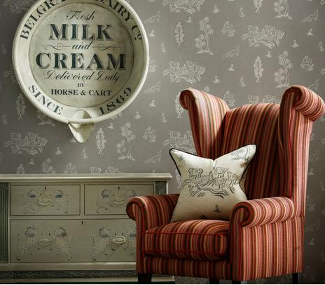Winston_Chair_in_Cuchillas_Multi_Fabric_with_cushion_in_Friendly_Folk_Dusk_Fabric_and_Wychwood_Dusk_Wallpaper