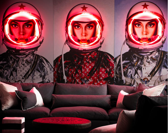 Space Girl Neon Lifestyle