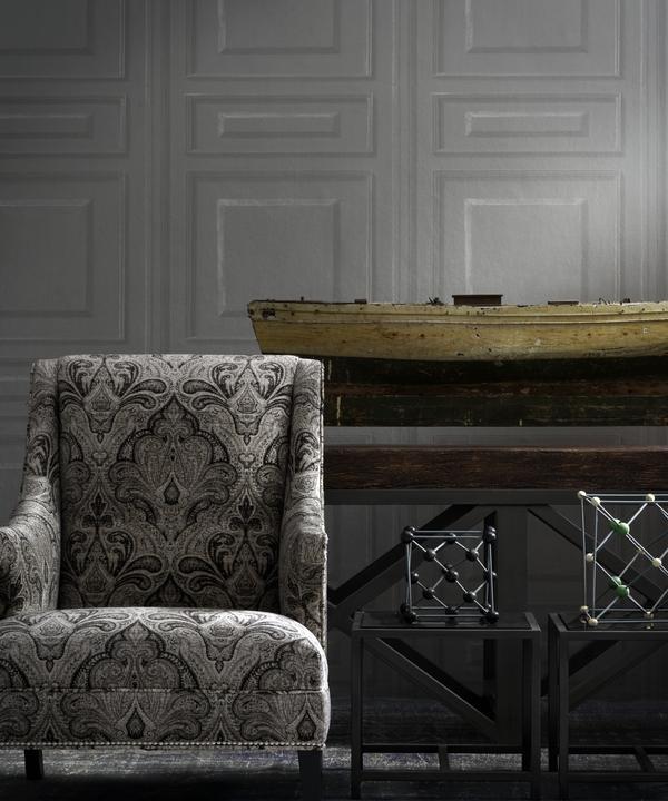 Mercury_Chair_in_Garett_Charcoal_Trianon_Charcoal_Wallpaper