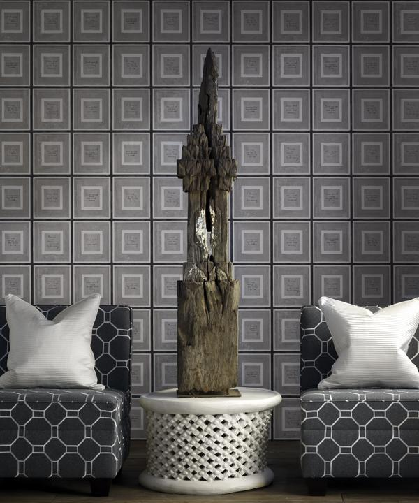 Biography_Grey_Wallpaper_Brompton_single_unit_chairs_in_Mondrian_Charcoal_with_cushion_in_Boudin_Ivory_lifestyle