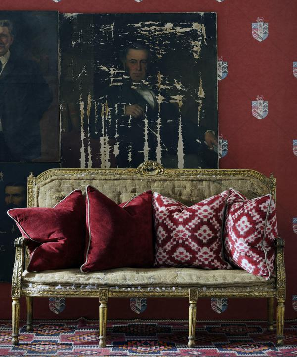 Sketch_Red_and_Gable_Red_Fabric_on_Cushions_Hastings_Red_Wallpaper_Liferstyle