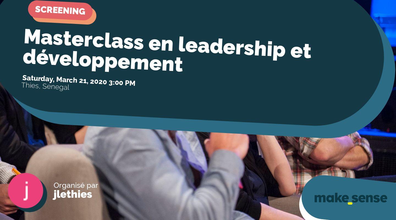 Masterclass en leadership et développement