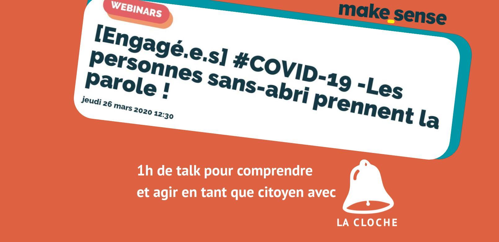 [Engagé.e.s] #COVID-19 -Les personnes sans-abri prennent la parole !
