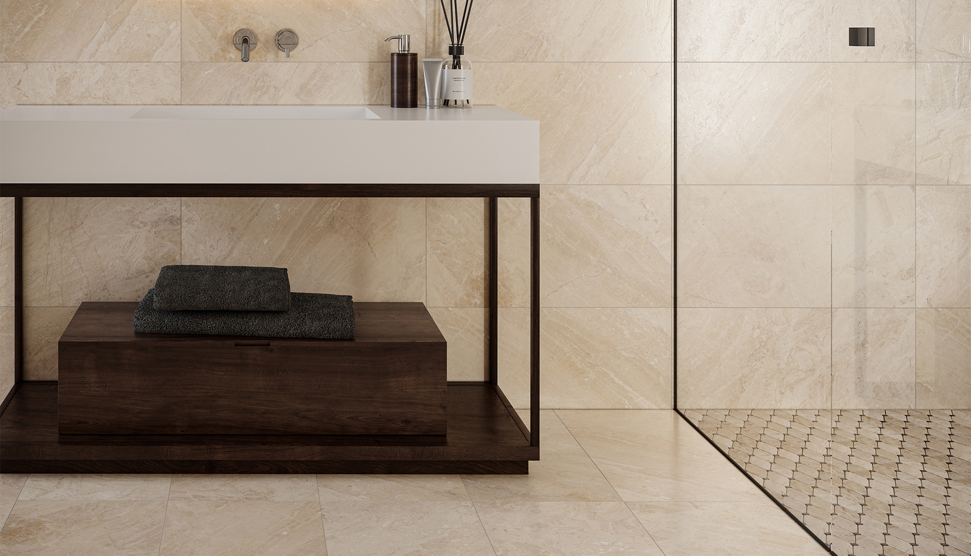 12 x 24 in / 30.5 x 61 cm Impero Reale Honed Marble Tile