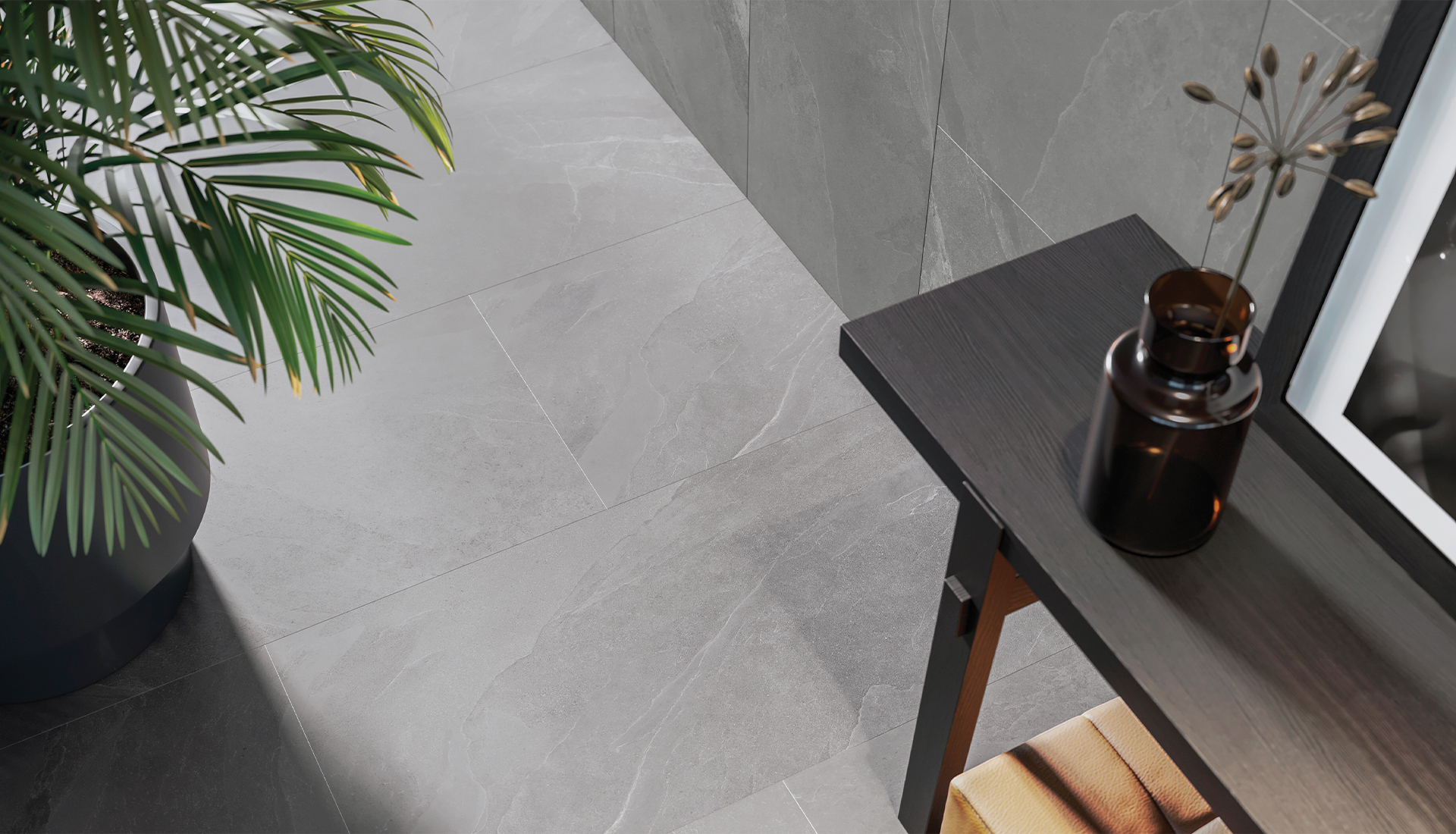 24 x 48 in / 59.5 x 119.5 cm Nord Chromium Matte Rectified Color Body Porcelain Tile