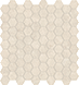 Mayfair Allure Ivory 1.25 in / 3 cm Hexagon Mosaic Polished