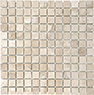 Ivory 1 x 1 in / 2.5 x 2.5 cm Mosaic Filled & Honed