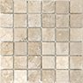Ivory 2 x 2 in / 5 x 5 cm Mosaic Filled & Honed