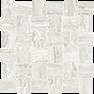 Precept Ivory 2 x 2 in / 5 x 5 cm Basketweave Mosaic Matte
