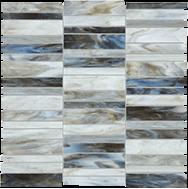 Baroque Albastro Random Stacked Mosaic
