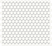 Soho Canvas White 3/4 in / 1.9 cm Penny Round Mosaic Glossy / Matte