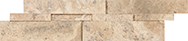 Splitface / Honed Cubics Picasso Travertine 6 x 24 in / 15 x 60 cm Cubic Wall Panel Honed