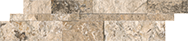 Splitface / Honed Cubics Picasso Travertine 6 x 24 in / 15 x 60 cm Wall Panel Split Face