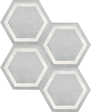 Form Ice 7 in / 17.5 cm Hexagon Frame Pressed Matte