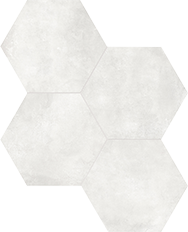 Form Ivory 7 in / 17.5 cm Hexagon Pressed Matte
