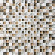 Glass + Stone Blend Mosaics Bamboo 5/8 x 5/8 in / 1.6 x 1.6 cm Mosaic