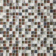 Glass + Stone Blend Mosaics Cabernet 5/8 x 5/8 in / 1.6 x 1.6 cm Mosaic