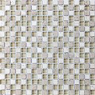 Glass + Stone Blend Mosaics Creme Brulee 5/8 x 5/8 in / 1.6 x 1.6 cm Mosaic