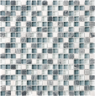 Glass + Stone Blend Mosaics Waterfall 5/8 x 5/8 in / 1.6 x 1.6 cm Mosaic