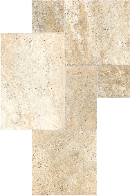 Picasso Cobble Stone Pattern Set Brushed